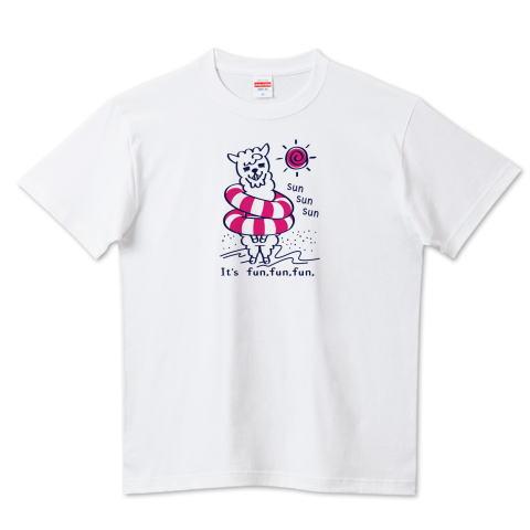 アルパカ あるぱかイズム 海水浴 浮き輪 かわいい Tシャツ 半袖 Tシャツトリニティ リンク