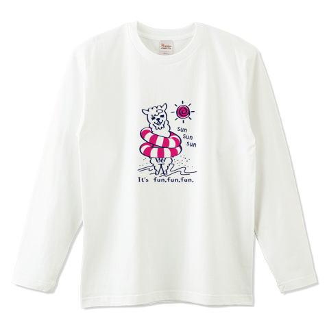 アルパカ あるぱかイズム 海水浴 浮き輪 かわいい Tシャツ 長袖 Tシャツトリニティ リンク