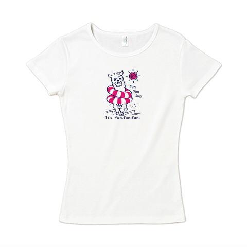 アルパカ あるぱかイズム 海水浴 浮き輪 かわいい Tシャツ 半袖 Tシャツトリニティ レディース リンク