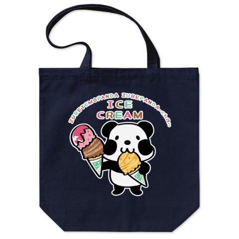 パンダ アイス アイスクリーム かわいい トートバッグ マイバッグ エコバッグ Tシャツトリニティ リンク
