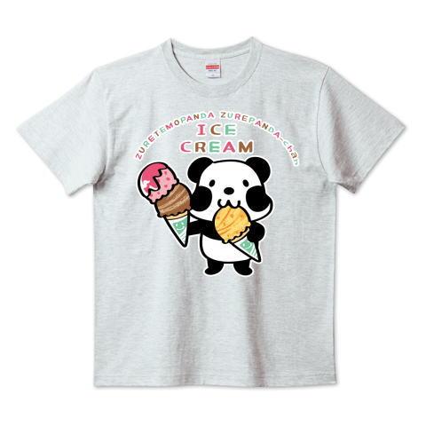 パンダ アイス アイスクリーム ズレぱんだちゃん  かわいい Tシャツ 半袖 Tシャツトリニティ リンク