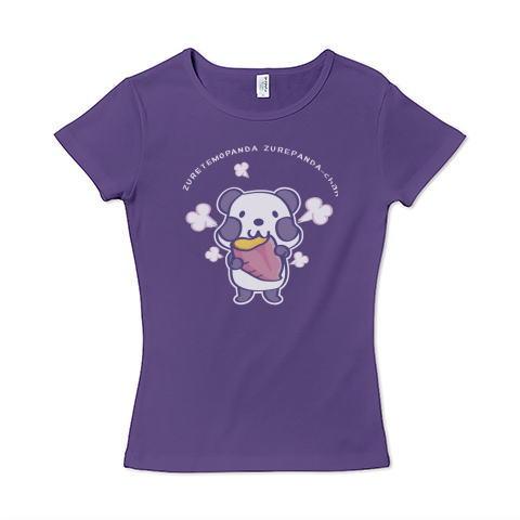 パンダ ズレぱんだ 焼き芋 お芋 イラスト かわいい Tシャツ 半袖 レディース Tシャツトリニティ リンク