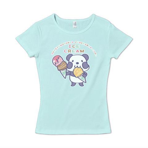 パンダ ズレぱんだ アイス アイスクリーム イラスト かわいい Tシャツ 半袖 レディース Tシャツトリニティ リンク