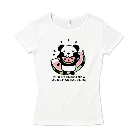 パンダ ズレぱんだ スイカ イラスト かわいい Tシャツ 半袖 レディース Tシャツトリニティ リンク