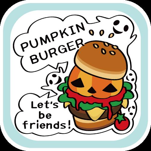 namonaaco  かぼちゃ バーガー ハンバーガー かわいい BASE リンク