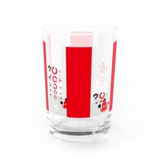 グラス コップ ガラス 食器 雑貨 キャラクター オリジナル たこ たこさんwinなー 視力検査 視力検査のあれ あれ イラスト suziri リンク