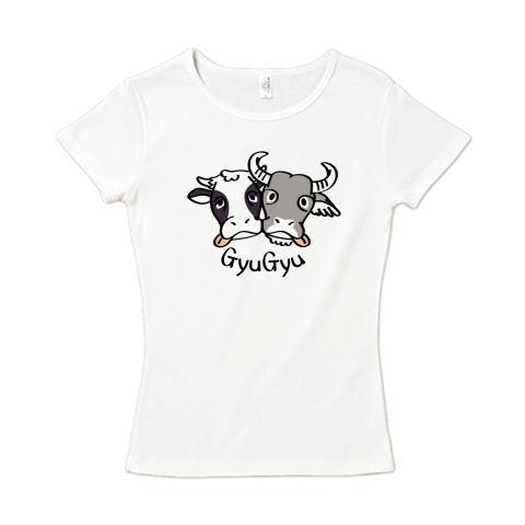 CT86 水牛 丑 牛 濃厚 接触 密 干支 Tシャツ 半袖 レディース  Tシャツトリニティ リンク