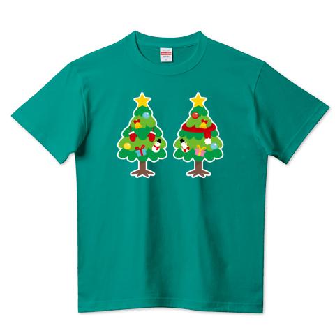CT88 漢字 林 林さん 名前 日本 文字 木 クリスマス クリスマスツリー イラスト Tシャツ 半袖 Tシャツトリニティ リンク