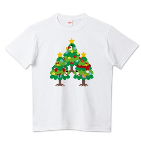 CT89 漢字 森 森さんさん 名前 日本 文字 木 クリスマス クリスマスツリー イラスト Tシャツ 半袖 Tシャツトリニティ リンク