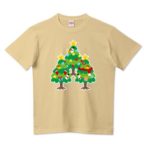 CT89 漢字 森 森さん 名前 日本 文字 木 クリスマス クリスマスツリー イラスト Tシャツ 半袖 Tシャツトリニティ リンク