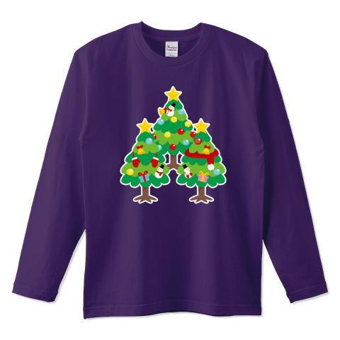 CT89 漢字 森 森さん 名前 日本 文字 木 クリスマス クリスマスツリー イラスト Tシャツ 長袖 Tシャツトリニティ リンク