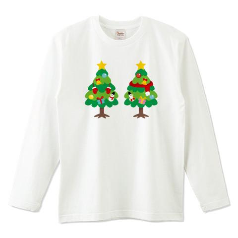 CT88 漢字 林 林さん 名前 日本 文字 木 クリスマス クリスマスツリー イラスト Tシャツ 長袖 Tシャツトリニティ リンク