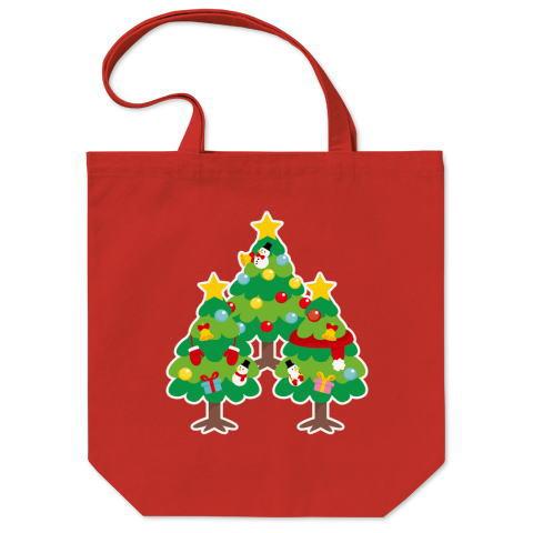CT89 漢字 森 森さん 名前 日本 文字 木 クリスマス クリスマスツリー イラスト トートバッグ マイバッグ エコバッグ Tシャツトリニティ リンク