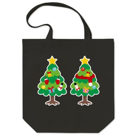 CT88 漢字 林 林さん 名前 日本 文字 木 クリスマス クリスマスツリー イラスト トートバッグ マイバッグ エコバッグ Tシャツトリニティ リンク