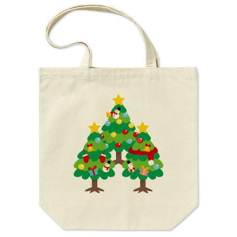 CT89 漢字 森 森さんさん 名前 日本 文字 木 クリスマス クリスマスツリー イラスト トートバッグ マイバッグ エコバッグ Tシャツトリニティ リンク