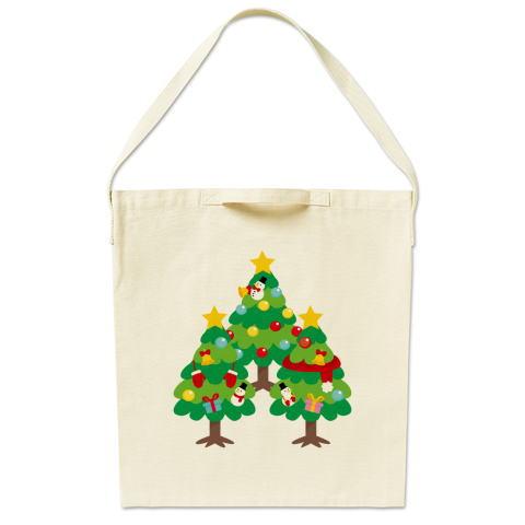 CT89 漢字 森 森さんさん 名前 日本 文字 木 クリスマス クリスマスツリー イラスト トートバッグ マイバッグ エコバッグ サコッシュ ショルダーバッグ Tシャツトリニティ リンク