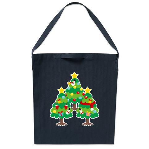 CT89 漢字 森 森さん 名前 日本 文字 木 クリスマス クリスマスツリー イラスト トートバッグ マイバッグ エコバッグ サコッシュ ショルダーバッグ Tシャツトリニティ リンク