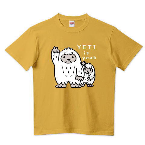 CT94 UMA イエティ yeah 雪男 未確認生物 YETI イラスト Tシャツ 半袖 Tシャツトリニティ リンク