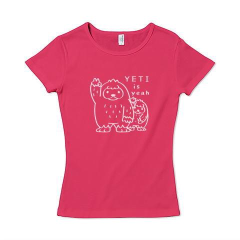 CT94 UMA イエティ yeah 雪男 未確認生物 YETI イラスト Tシャツ 半袖 レディース Tシャツトリニティ リンク