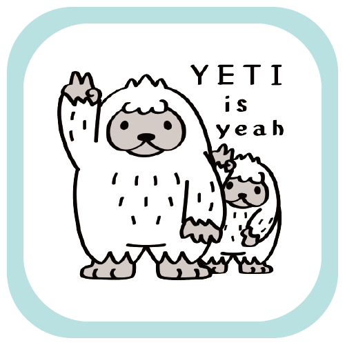MTCT94 YETI is yeah A UMA 未確認生物 イエティ イエイ 親子 楽しい イラスト リンク