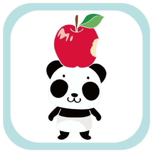 MTCT19 ズレぱんだちゃんのリンゴ食べたの誰? ズレてもぱんだズレぱんだちゃん ズレぱんだちゃん ズレちゃん パンダ 動物 キャラ キャラクター リンゴ 傘 イラスト リンク