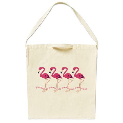 CT102 2222*フラミンゴのメッセージ フラミンゴ 鳥 数字 2222 メッセージ キャラクター キャラ イラスト トートバッグ マイバッグ エコバッグ サコッシュ ショルダーバッグ Tシャツトリニティ リンク