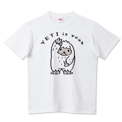CT104 YETI is yeah ぼく UMA 未確認生物 イエティ イエイ  キャラクター キャラ イラスト Tシャツ 半袖 Tシャツトリニティ リンク
