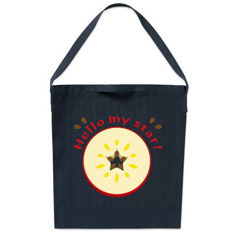CT105 輪切りのリンゴ  輪切り リンゴ 果物 食べ物 星 イラスト トートバッグ マイバッグ エコバッグ サコッシュ ショルダーバッグ Tシャツトリニティ リンク