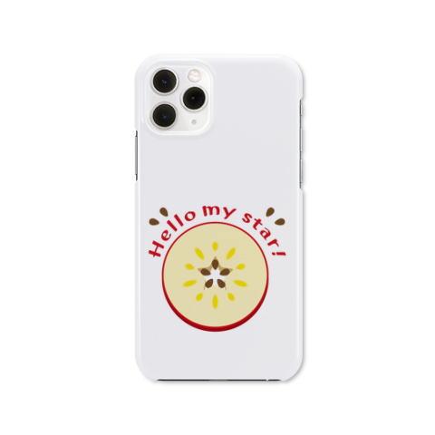 CT105輪切りのリンゴ ポップ りんご 輪切り 水玉模様 デザイン イラスト iPhoneケース ハードケース  イラスト Tシャツトリニティ リンク