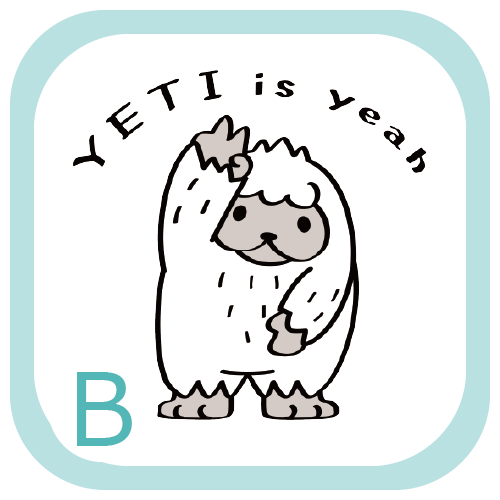 CT104 YETI is yeah ぼく UMA 未確認生物 イエティ イエイ キャラ オリジナル イラスト Tシャツ トリニティ リンク