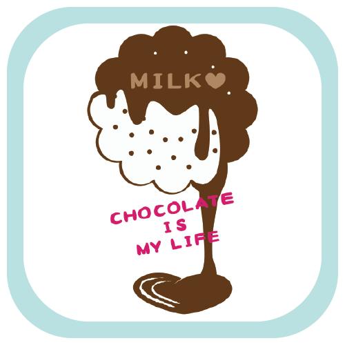 CT98 チョコレート バレンタイン ミルク ミルクチョコ スイーツ お菓子 Tシャツトリニティ リンク Tシャツトリニティ リンク