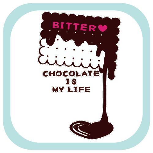 CT99 チョコレート バレンタイン ビターチョコ スイーツ お菓子  Tシャツ Tシャツトリニティ リンク Tシャツトリニティ リンク