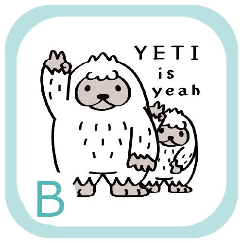 CT94 イエティ UMA  YETI yeah 親子 キャラ キャラクター イラスト Tシャツ トリニティ リンク
