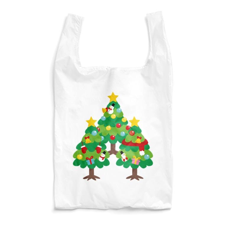 CT89 漢字 森 森さん 名前 日本 文字 木 クリスマス クリスマスツリー イラスト エコバッグ SUZURI リンク