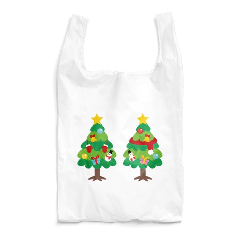 CT88 漢字 林 林さん 名前 日本 文字 木 クリスマス クリスマスツリー イラスト エコバッグ SUZURI リンク