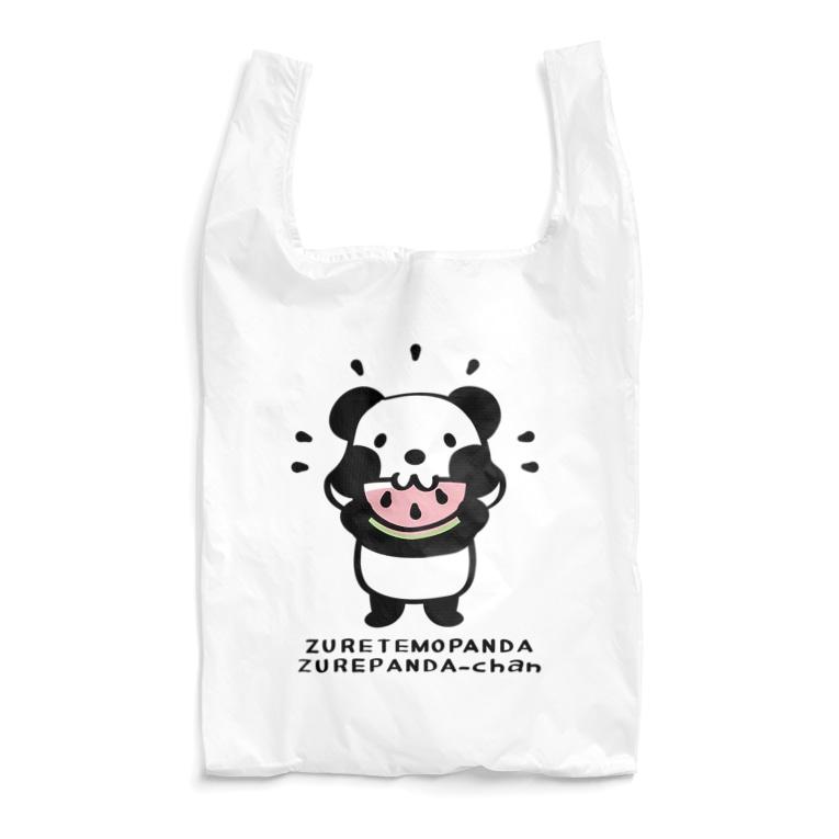 パンダ ズレちゃん ズレぱんだ スイカ かわいい エコバッグ SUZURI リンク