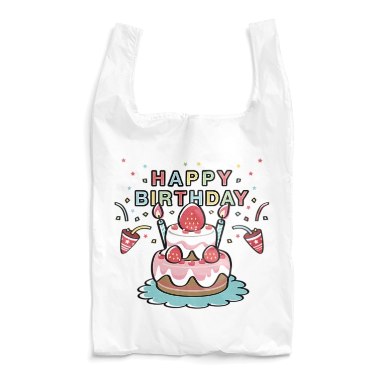 CT61BIRTHDAY   ケーキ お祝い パーティ エコバッグ SUZURI リンク