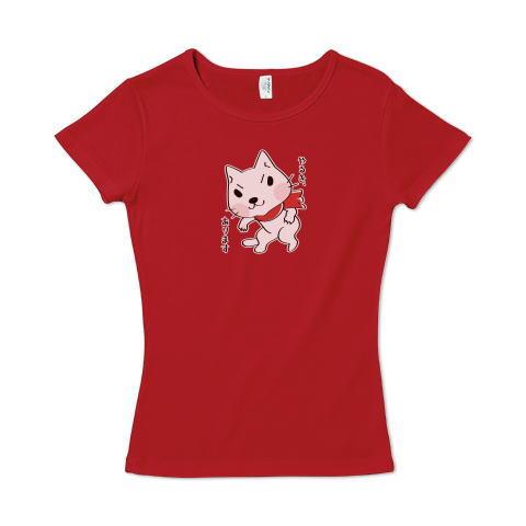 CT109 おもしろ&おもくろ*やるき、あります ねこ ネコ ネコの日 猫の日 シロネコ 白ねこ 面白い猫 尾も白い猫 キャラクター キャラ オリジナル オリキャラ イラスト Tシャツ 半袖 レディース Tシャツトリニティ リンク