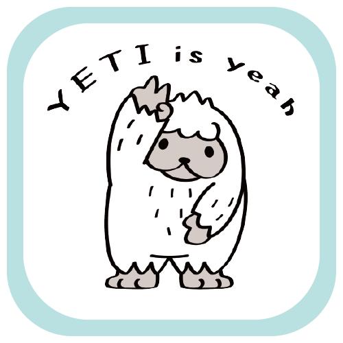 CT104 YETI is yeah UMA 未確認生物 イエティ イエイ イラスト  namonaaco イラスト BASE リンク