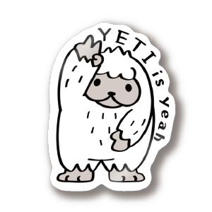 CT94 ぼく UMA イエティ yeah 雪男 未確認生物 YETI イラスト ステッカー SUZURI リンク