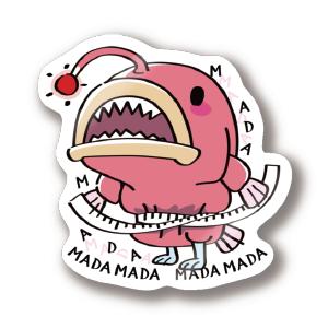 CT114 海の底のあんこ姫 まだまだいける 魚 海底 ダイエット 言い訳 海の生き物 あんこう エコバッグ SUZURI リンク