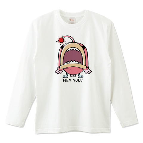 CT32A 海の底のあんこ姫 hey you 海の生き物 まだまだいける キャラクター キャラ オリジナル オリキャラ イラスト Tシャツ 長袖 Tシャツトリニティ リンク