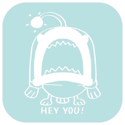 CT32B 海の底のあんこ姫  あんこう 魚 海の生き物 姫 ピンク キャラ オリジナル イラスト Tシャツ トリニティ リンク