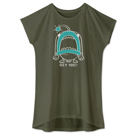 CT32C 海の底のあんこ姫 hey you 海の生き物 まだまだいける キャラクター キャラ オリジナル オリキャラ イラスト Tシャツ 半袖 ワンピース 重ね着 Tシャツトリニティ リンク