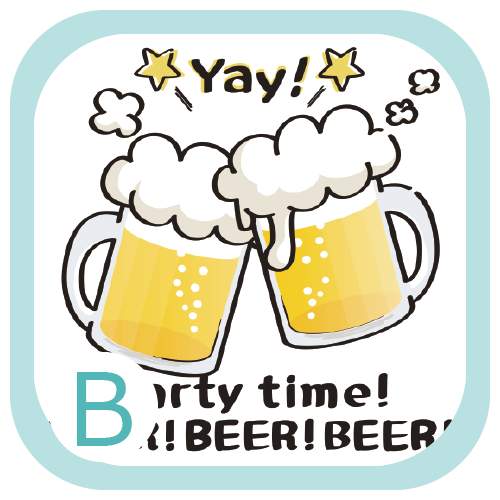 CT125 BEER!BEER!BEER! BEER beer アルコール 生ビール 宴会 花見 ビアガーデン BBQ オリジナル オリキャラ イラスト Tシャツ 半袖 Tシャツトリニティ リンク