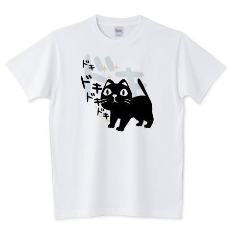 CT120 やみねこ、ろっぽのドキドキA*ブレンド ドキドキ 本 ドキドキする本 キャラクター キャラ オリジナル オリキャラ イラスト Tシャツ 半袖 Tシャツトリニティ リンク