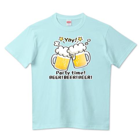 CT125 BEER!BEER!BEER!*ブレンド ビール 生ビール アルコール ジョッキ イラスト Tシャツ 半袖 Tシャツトリニティ リンク