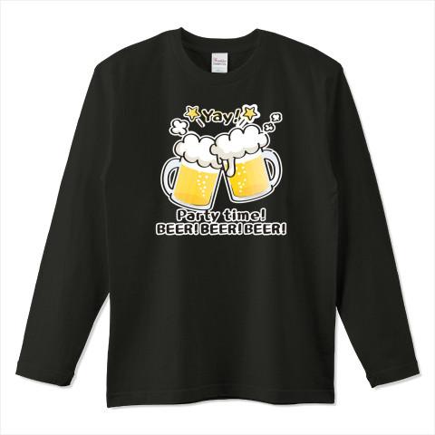 CT125 BEER!BEER!BEER!*ブレンド ビール 生ビール アルコール ジョッキ イラスト Tシャツ 長袖 Tシャツトリニティ リンク