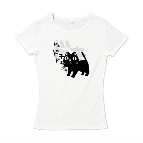 CT120 やみねこ、ろっぽのドキドキA*ブレンド ドキドキ 本 ドキドキする本 キャラクター キャラ オリジナル オリキャラ イラスト Tシャツ 半袖 レディース Tシャツトリニティ リンク