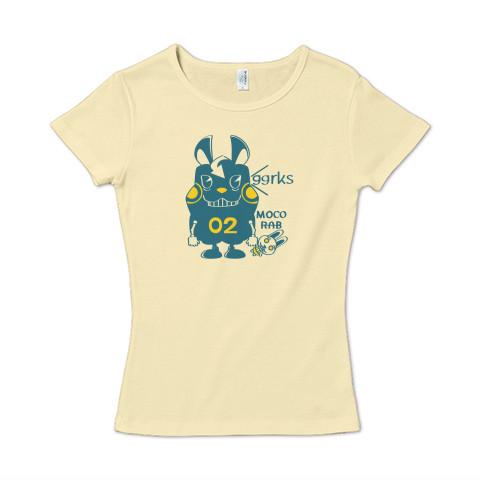 CT124 モコモコラビット2号*ggrks*Cbg ウサギ ロボット ggrks  キャラクター キャラ オリジナル オリキャラ イラスト Tシャツ 半袖 レディース Tシャツトリニティ リンク